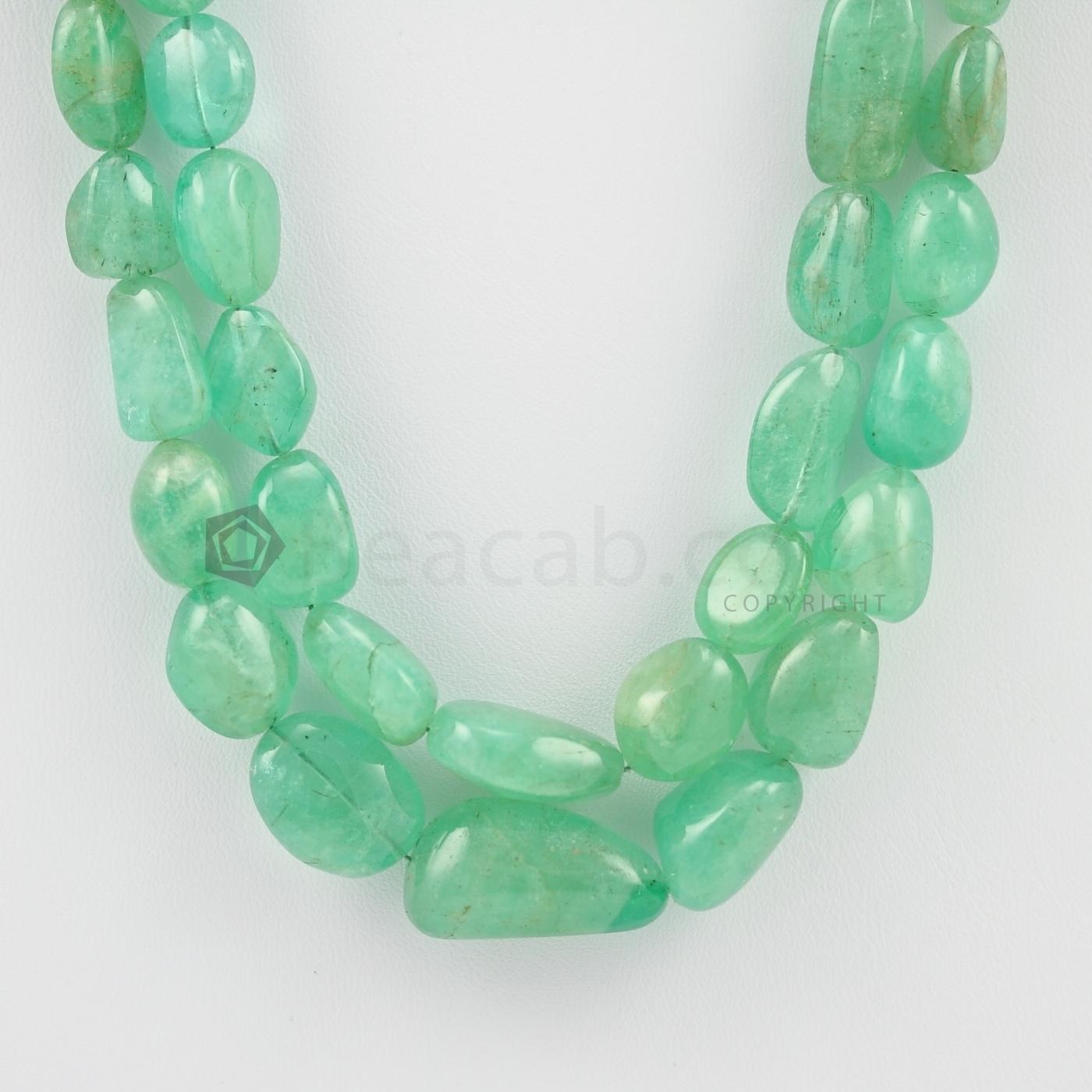 columbian emerald beads