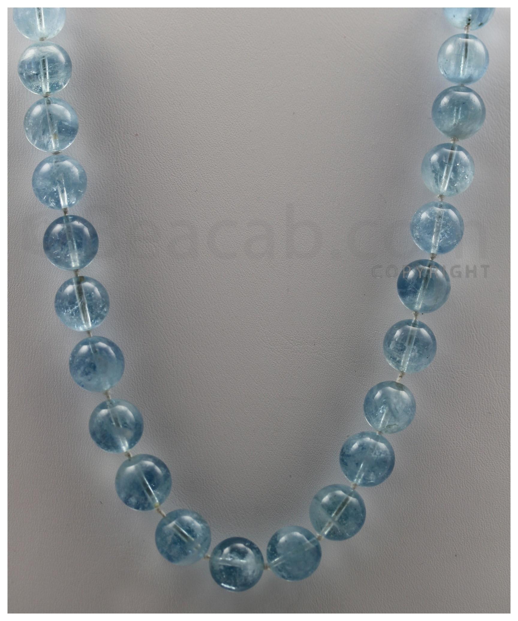 Aquamarine Round Beads