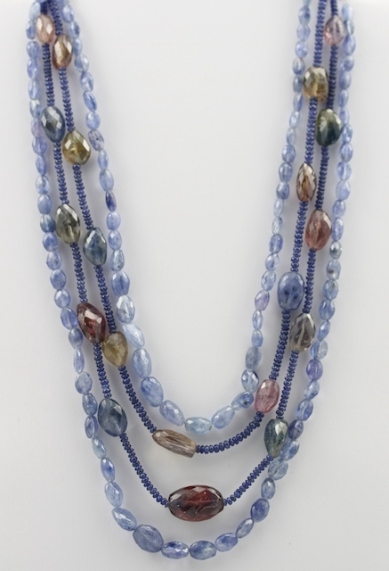 sapphire faceted beads