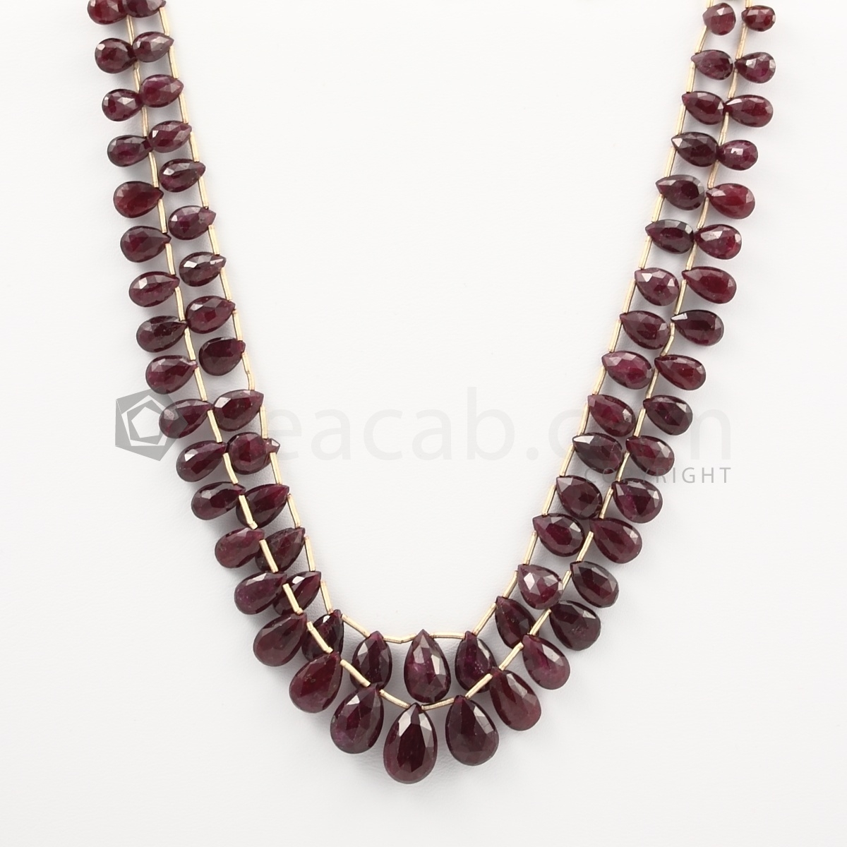 ruby drop beads
