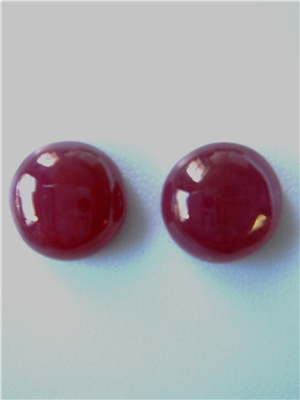 Natural Burma Ruby Cabs Pair No Heat - 38.21 carats